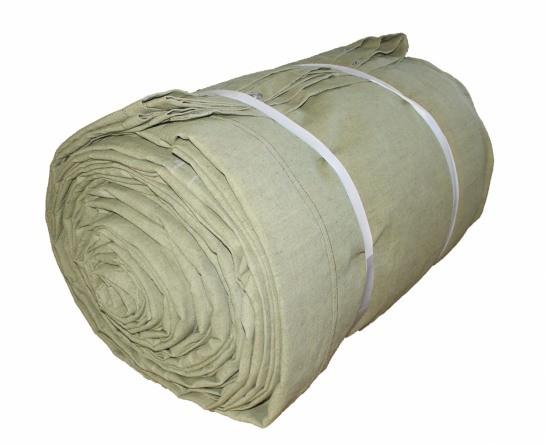 Полог брезентовый 2,7х6,8 м огнеупорный, с люверсами
