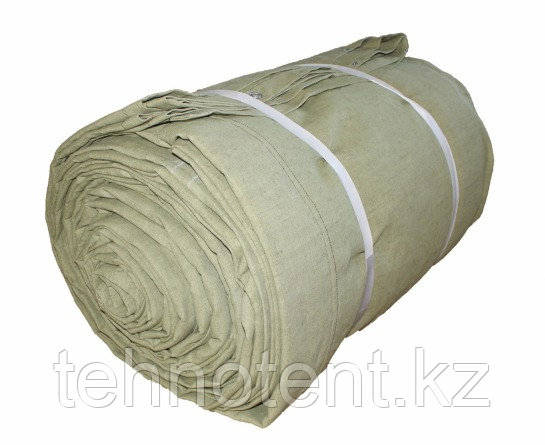 Полог брезентовый 2,7х5,4 м огнеупорный, с люверсами