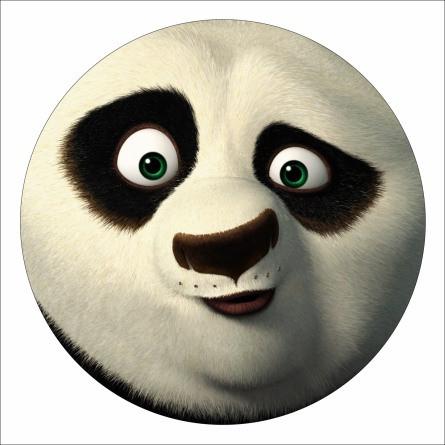 """Ледянка мягкая диаметр 45см """"Панда"""" Синяя стропа"""