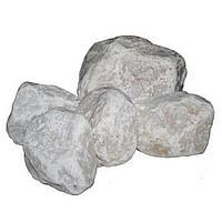 Камни для каменок, Белый кварцит, обвалованный, средний 20 кг
