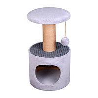 Когтеточка - лежанка домик круглый с ворсом 7 Котиков