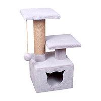 Когтеточка - лежанка домик с 2 лежанками квадратный 7 Котиков