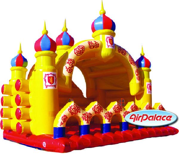 Надувной большой батут Царский терем 6,3*7,9*7,1 м