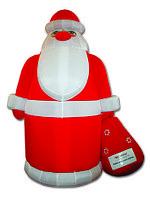 Надувная фигура Дед мороз 6м
