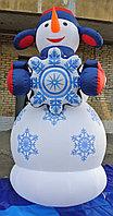 Фигура Снеговик: надувной Снеговик со снежинкой по доступным ценам 3 м