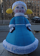 Надувная фигура Сказочная Снегурочка 5 м