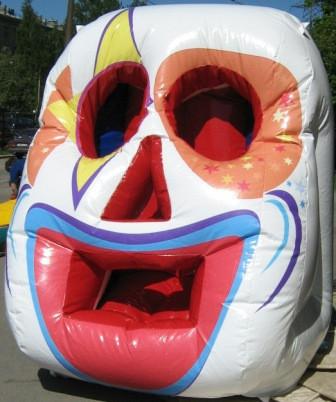 Надувной тир Клоун - спортивный аттракцион 1,8*1,8*2,2 м