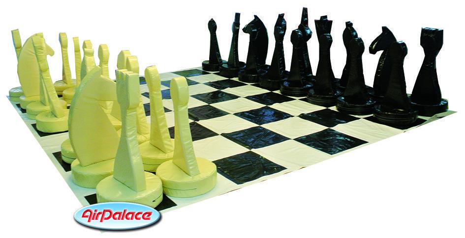 Шахматы с полем - спортивный аттракцион 5*5 м, высота шахмат 1,3 м