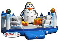 Надувной большой детский батут Пингвин 8,4*7,4*4,3 м