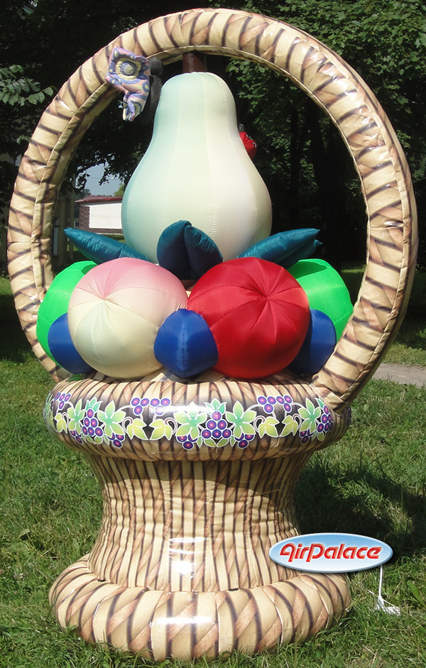 Надувная корзина с фруктами для праздника 1,3*2*2,7 м