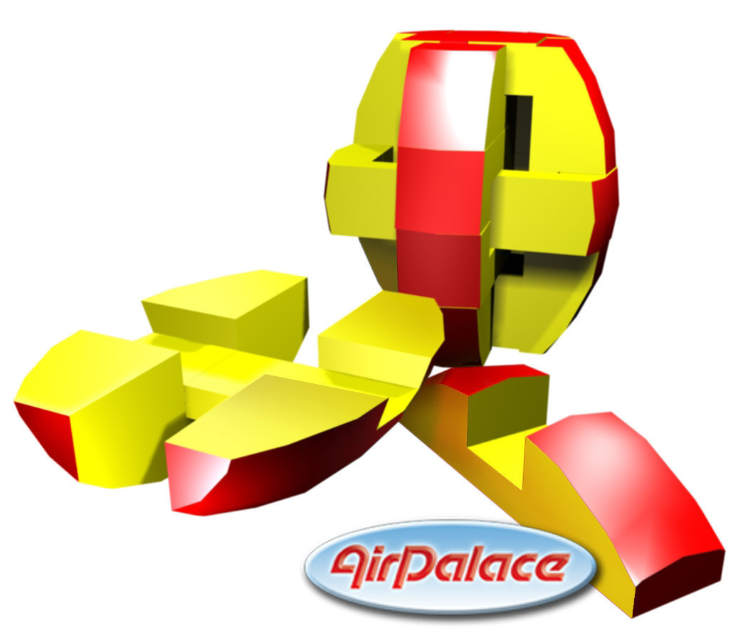 Мягкая головоломка-пазл Бочка  0,65*0,65*0,7 м