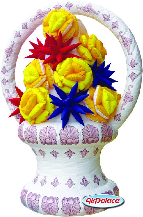 Надувная Ваза с цветами по цене производителя 1,3*2*2,7 м