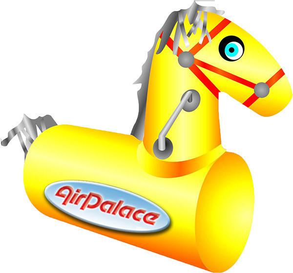 Пони - лошадиные скачки на надувном мягком модуле 0,9*0,9*0,35 м
