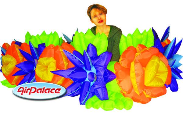 Цветочная пневмогирлянда Весенняя с эффектом раскрытия 10 м, высота 0,5 м