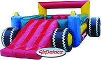Надувной батут детский Машина Формула-1 с горкой 5,7*3,9*2,1 м