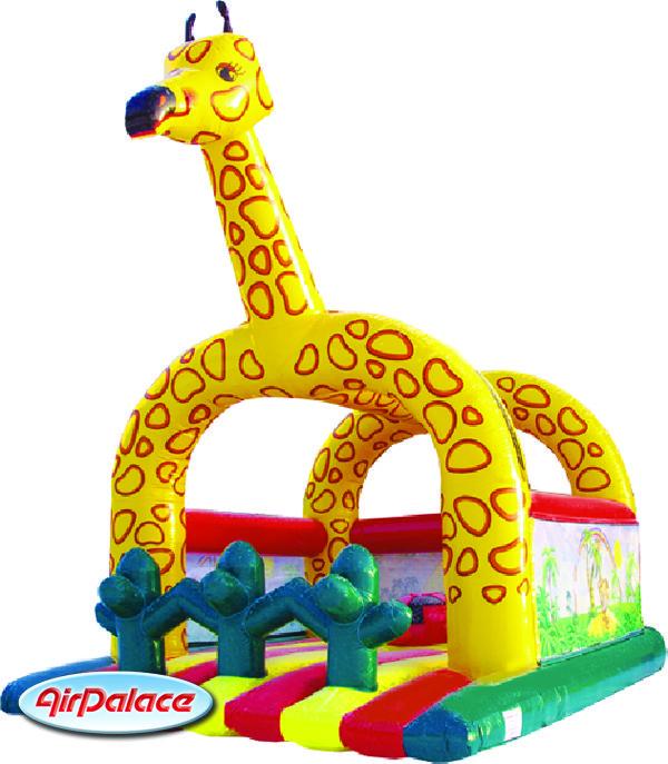Надувной большой батут Жираф 6,1*4,9*5,6 м