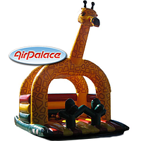 Надувной большой батут Жираф-мини 3,9*4*4,6 м