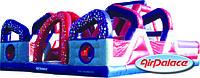 Большой надувной мега батут Лабиринт 10,2*9,7*3,6 м
