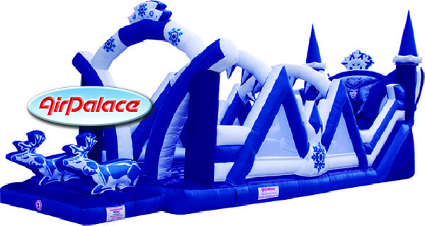 Надувная горка Снежная Королева 12,3*3,8*5,7 м