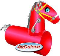 Конь - лошадиные скачки на надувном мягком модуле 1,1*1,1*0,5 м