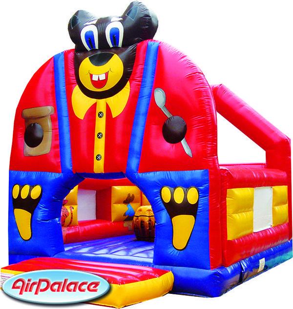 Надувной большой батут Мишка детский 6,1*4,9*5,6 м