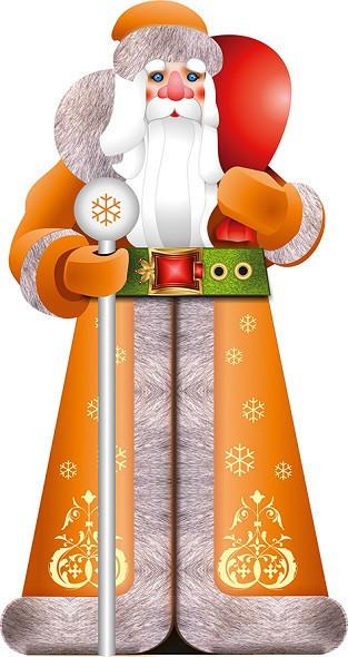 Большая надувная фигура Дед Мороз Премиум 6 м
