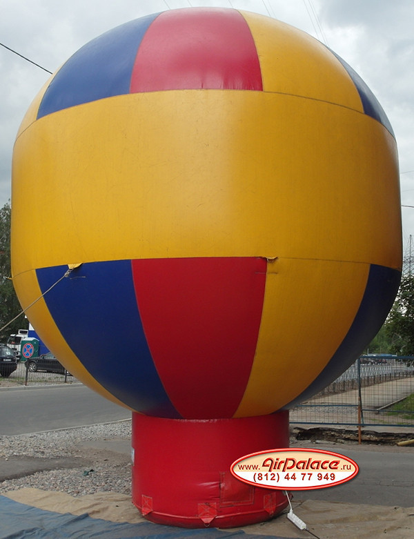 Надувной шар Капля на торе малая диаметр 3 м, высота 4 м