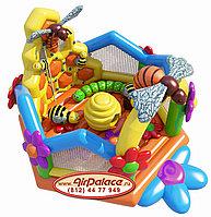 Детский батут надувной Пчелиный домик 6,4*6,2*4,1 м