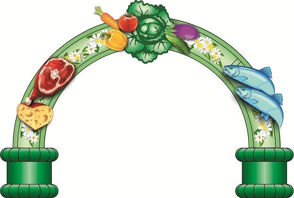 Большая надувная фигура арка с овощами