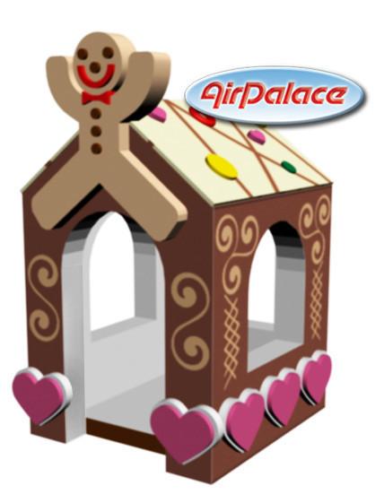 Пряничный домик - мягкий игровой детский 1,3*1,6*2,3 м