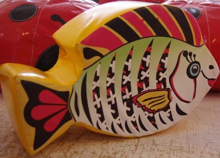 Рыбка - мягкий элемент в детскую комнату 0,6*0,1 м