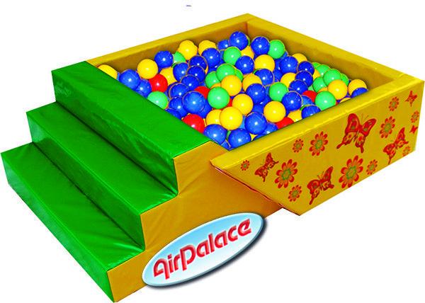 Сухой шариковый бассейн с горкой Летний 2,0*1,5*0,6 м