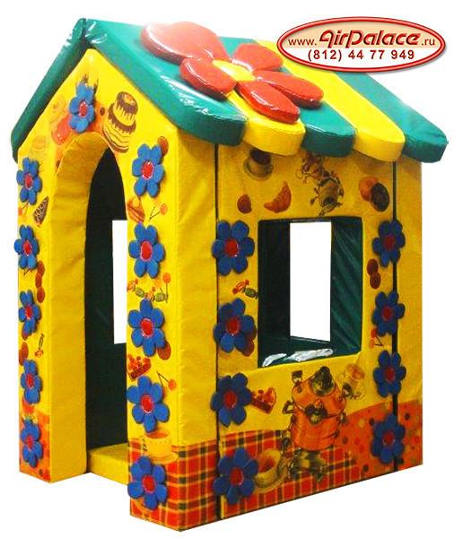 Цветочный домик Василёк - безопасный мягкий для детей 1,5*1,3*2,1 м
