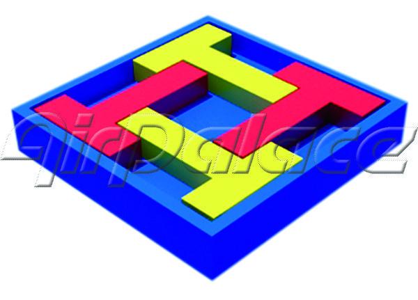 Четыре буквы Т - мягкая детская головоломка 0,8*0,8*0,1 м