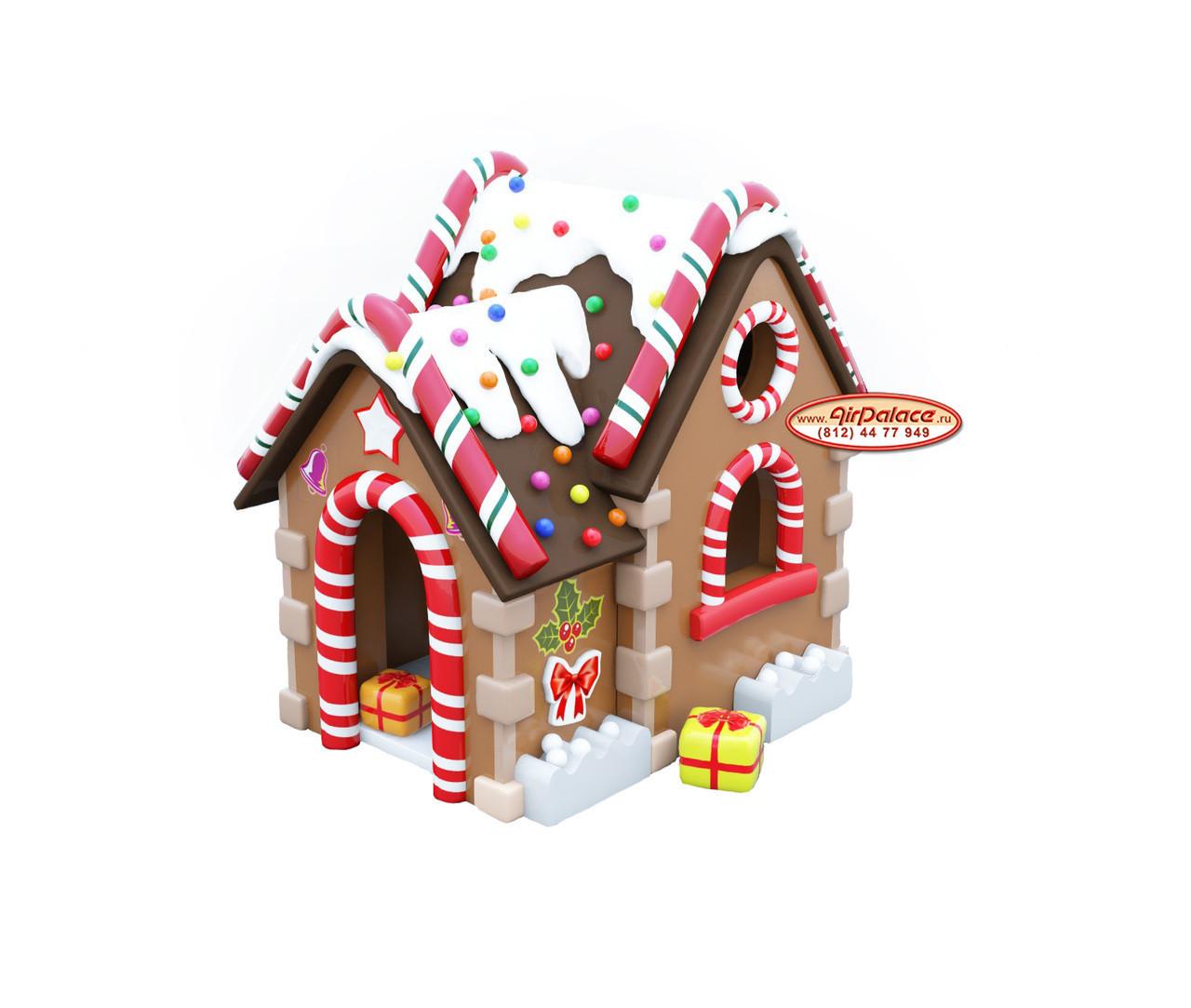 Домик Новогодний мягкий для игр детский 1,6*2,3*2,6 м