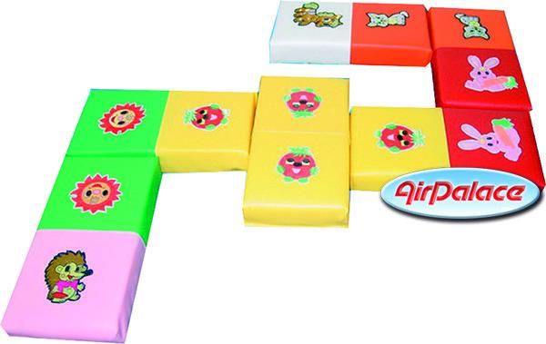 Домино Зверята - логическая игра для детей 0,8*0,4*0,05 м - 6 штук