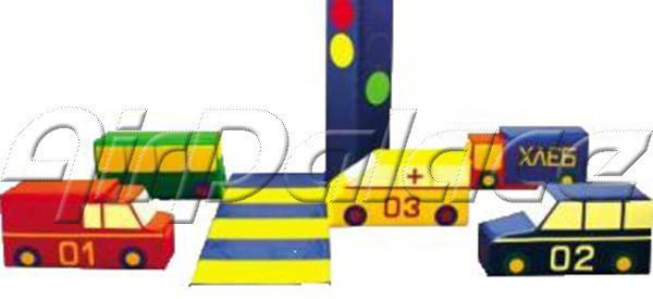 Дорожное движение - набор мягких машин