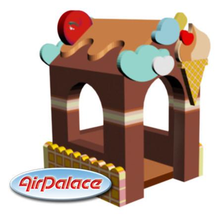 Крем брюле - мягкий игровой домик для детей 1,5*1,3*2,1 м