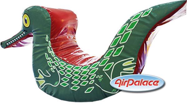 Крокодил - мягкая безопасная качалка для детей 1,2*0,4*0,7 м
