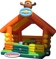 Надувной мягкий домик Изба Копатыча 6,7*6,7*7 м