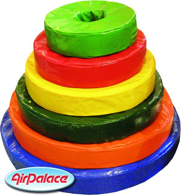 Пирамидка - мягкая конструкция для игр диаметр 0,9 м, высота 0,7 м