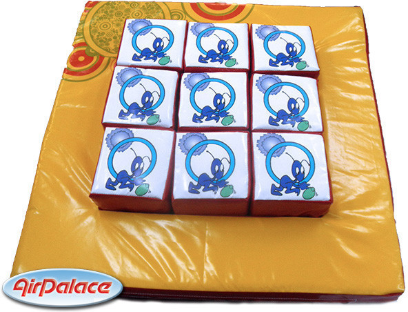 Развивающая мягкая игра - мозаика крестики-нолики 1*1*0,2 м