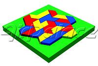 Ромбоид - мягкая детская головоломка 1,6*1,6*0,1 м