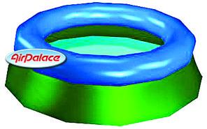 Надувной бассейн дачный 10 м