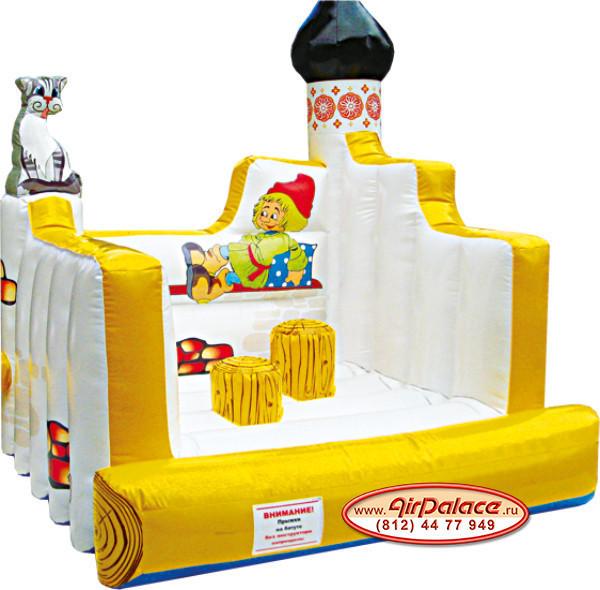 Надувной батут для детей Печка 2,5*2,5*2,7 м