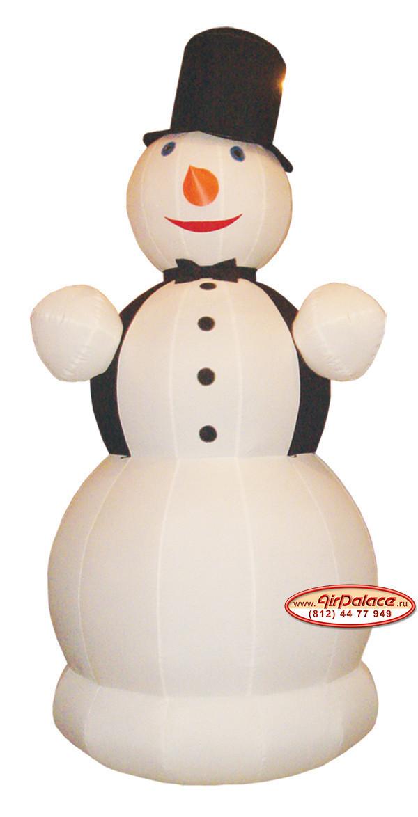 Надувной Снеговик джентльмен 6 м