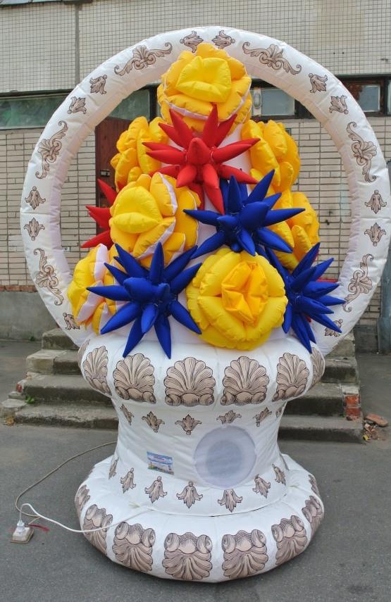 Надувная Ваза с цветами 1,3*2,0*2,7 м