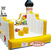 Надувной батут для детей Печка 2,5*2,5*2,7 м по акции!