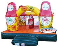 Надувной батут детский Матрешки по акции 3,8*3,2*2,4 м