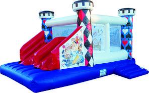 Надувной большой батут для детей Зазеркалье по акции 4,5*3,5*2,5 м